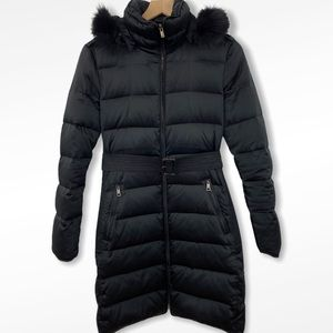 Burberry Black Down Puffer w/ Detachable Fur Hood